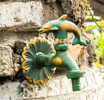 Animal Shaped Handle Antique Brass Outdoor Water Tap And Sprayer